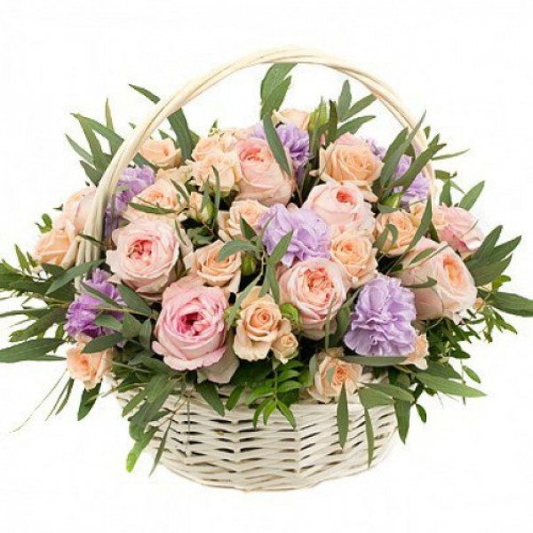 "Корзина цветов ""Грёзы Джульетты"""
